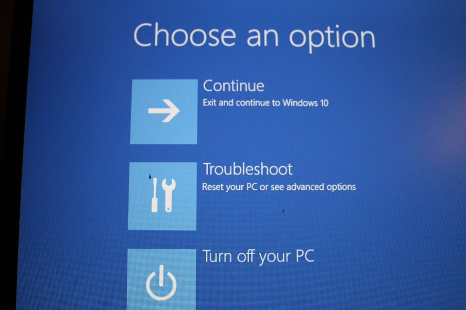 Windows 10 restore - troubleshooting